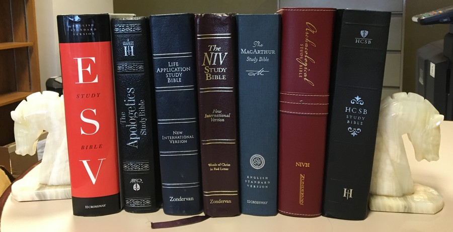 Bibles On Shelf
