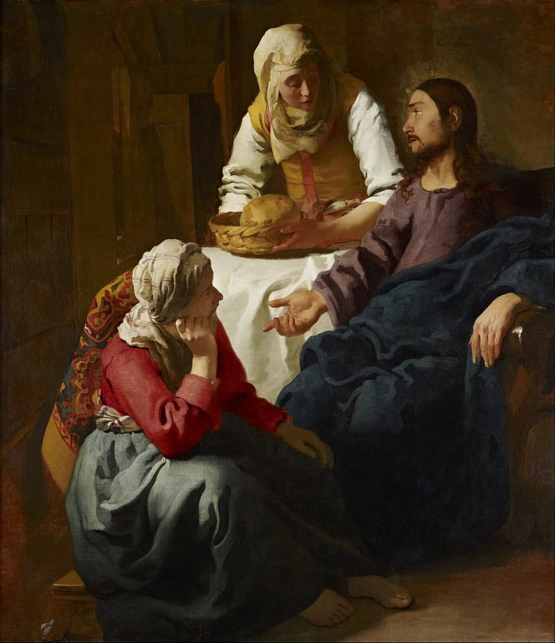 Jan Vermeer, Christ in the House of Martha and Mary (1655)