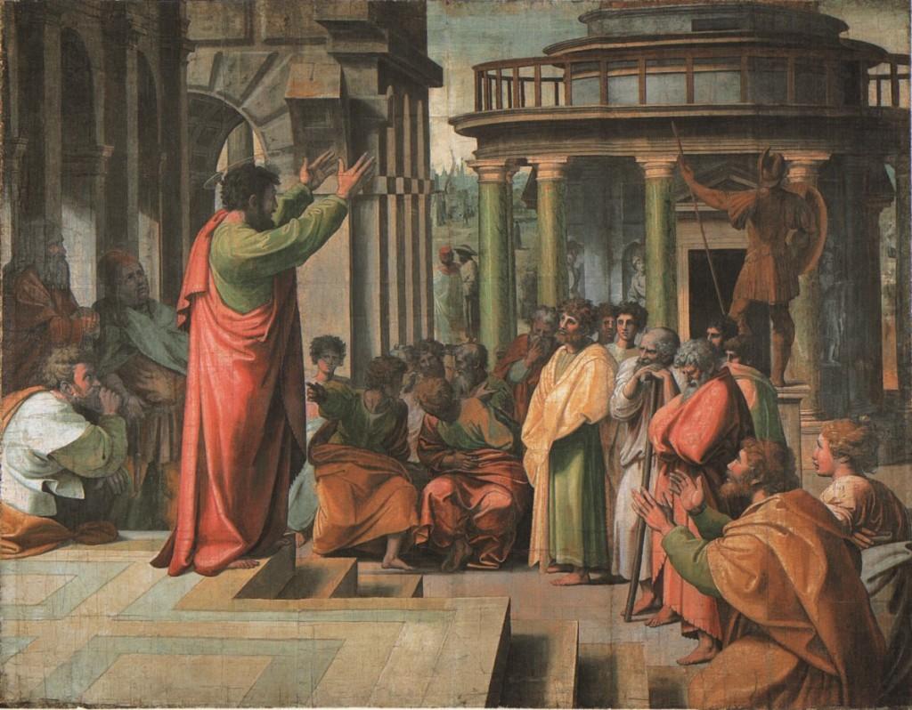 Man Preaching Painting