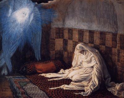James Tissot, The Annunciation (ca. 1886-1896)