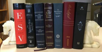 Bibles On Shelf