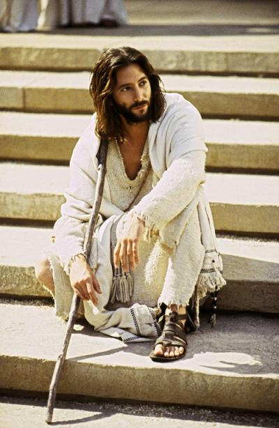 Jesus On Steps