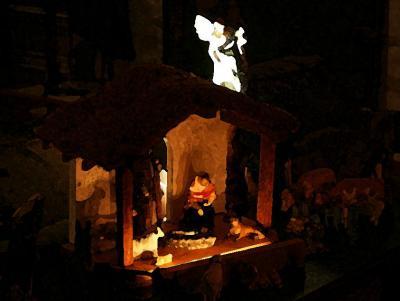 Nativity Set On Water