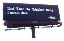 Love Thy Neighbor Billboard